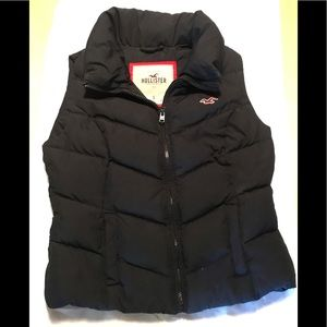 Blue Hollister Zip Front Padded Puffy Bubble Vest